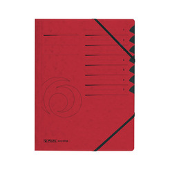 Herlitz Ordnungsmappe A4 Colorspan 1-7 rot