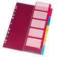 Herlitz Register A4 PP 1-5 mit Indexblatt farbig
