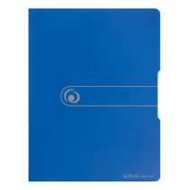 Herlitz Sichtbuch PP A4 20 Hüllen opak blau easy orga to go