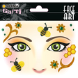 HERMA Face Art Sticker Honey Bee Art Decor