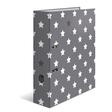HERMA Motivordner A4 Stars - Grau mit weißen Sternen