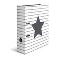 HERMA Motivordner A4 Stars - Weiß gestreift
