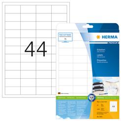 HERMA PREMIUM A4 Etiketten 25 Blatt / Packung