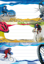 HERMA Schulbuch-Etikett Buchetikett Montainbike