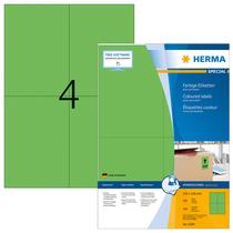 HERMA SPECIAL A4 Farbige Etiketten 100 Blatt / Packung