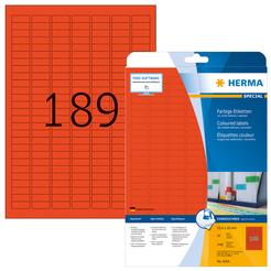 HERMA SPECIAL A4 Farbige Etiketten 20 Blatt / Packung ablösbar