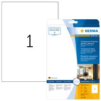 HERMA SPECIAL A4 Schilder strapazierfähig Folie transparent glasklar
