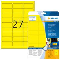 HERMA SPECIAL A4 Schilder strapazierfähig Signalfolie gelb