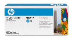 HP Druckkassette cyan mit ColorSphere Toner Q6001A