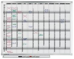 Legamaster Aktion PROF. Jahresplaner 90x120cm + gratis Zubehörset Planset 1