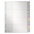 Ordnerregister DIN A4, Tabe: blanko, einfarbig, 20 Blatt