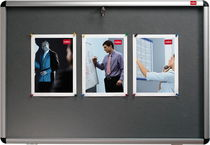 Nobo® Schaukasten für den Innenbereich, graue Textiltafel