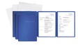 Bewerbungsmappe Karton, blau