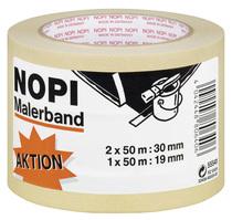 Papier-Klebeband NOPI® Maler-Krepp Promo-Set 2 x 30 mm + 1 x 19 mm