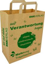 "RNK Papiertragetasche ""think green"", Kraftpapier 90g / m², 320 x 150 x 430 mm"