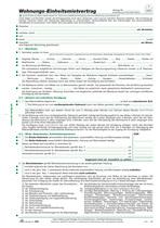 RNK Wohnungs-Einheitsmietvertrag - 10 Stück, DIN A4 + Wohnungsgeberbescheinigung