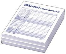 RNK Würfelspiel-Gewinnblatt - Block DIN A6, 3 x 85 Blatt