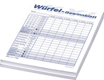 RNK Würfelspielset XXL mit Würfelbecher, 5 Würfel & 1 Pkg. Würfelspiel-Blocks (5801)