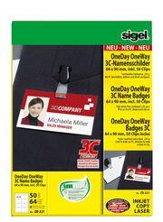 Sigel 3C-Namensschilder OneDay OneWay