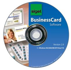 Sigel BusinessCard Software, Gestaltungs-Software für Visitenkarten
