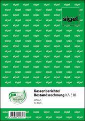 Sigel Kassenberichte / Bestandsrechnung