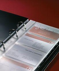 Sigel Visitenkarten-Ringbuch, Leder Torino