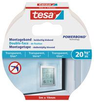 tesa® Montageband für transparente Oberflächen und Glas (20kg / m)
