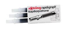 3 Stück pro Packung rOtring  Kapillarpatrone Tusche für Rapidograph