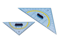 WEDO® Geometrie-, Zeichendreieck (Büro, Schule) Geometrie-Dreieck mit abnehmbarem Grif