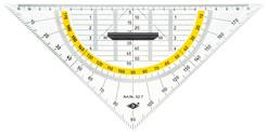 WEDO® Geometrie-, Zeichendreieck, Geometrie-Dreieck mit abnehmbarem Griff