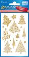 Z-Design CHR Papier Sticker Bäume goldgeprägt