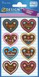 Z-Design Creative Papier Sticker Lebkuchenherz
