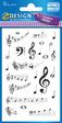 Z-Design Creative Papier Sticker Musik Noten