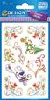 Z-Design Flower Sticker Schnörkel gold geprägt
