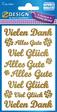 Z-Design Goldline Sticker Schriftzüge