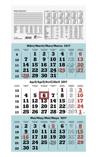 ZETTLER Dreimonatskalender 958