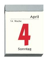 ZETTLER Tagesabreißkalender im Hochformat