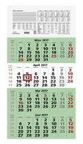 ZETTLER Viermonatskalender 959 Recycling