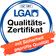 Die LGA gehört zu den vom Bundesarbeitsministerium anerkannten Prüfstellen, die dasGS-Zertifikat(Geprüfte Sicherheit) ausstellen dürfen.